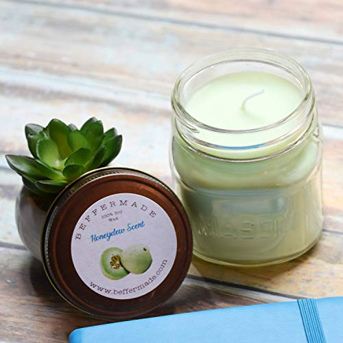 Honeydew Melon Candle, 8 oz Soy Candle ()
