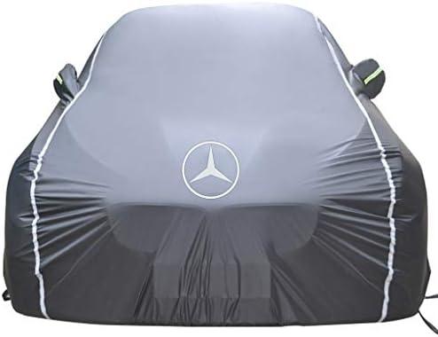 メルセデスAMG S 4MATIC 63クーペオールウェザーカーカバー防水Snowproof防風フルカバレッジカーカバーと互換性カーカバー (Color : Black)