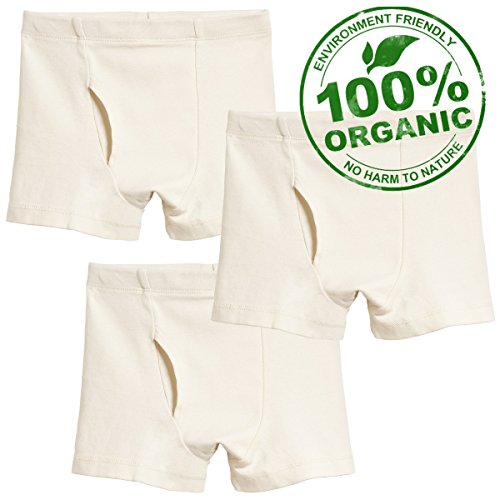 City Threads Boys' Boxer Briefs Underwear in 100% Organic Cotton Made in USA