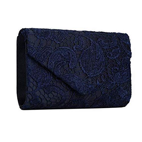 Mini tracolla nero di scuro Piccola Donna Blu Banchetto colore nozze elegante sera a Borsa Festa Borsa Frizione carina da 7q5ga7w