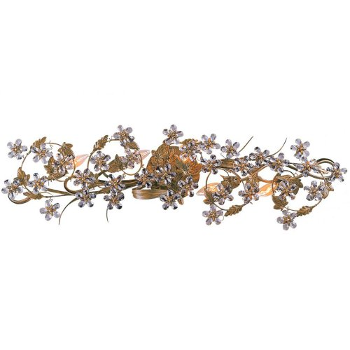 (Crystorama 5307-GL Leaf, Flower, Fruit Five Light Bathroom-Vanity Light from Paris Market collection in Gold, Champ, Gld Leaffinish, 6.00 inches)