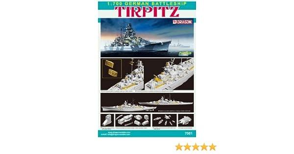 Dragon Models 1//700 German Battleship Tirpitz Premium Edition