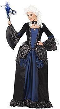 Barroco Princesa Venecia para mujer Disfraz Azul Negro: Amazon ...