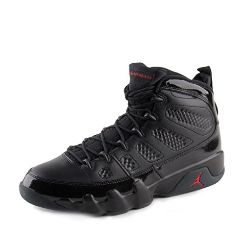 NIKE Mens Air Jordan 9 Retro Bred Black/University Red Leather Size 10.5