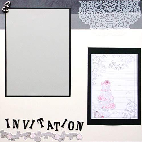 Wedding Invitation Scrapbook Page Premade