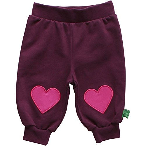 Fred's World by Green Cotton Baby-Mädchen Hose Dot Sweat Pants, Rot (Wine 019231506), 86