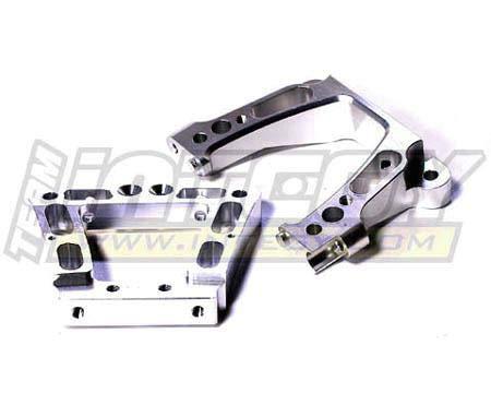 - Integy RC Model Hop-ups T6850SILVER Alloy Rear Bulkhead for HPI Baja 5B