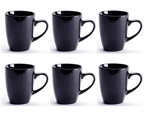 - LEANDALE Black Ceramic Cup set,Coffee Mug Set,10 OZ (Black-set of 6)