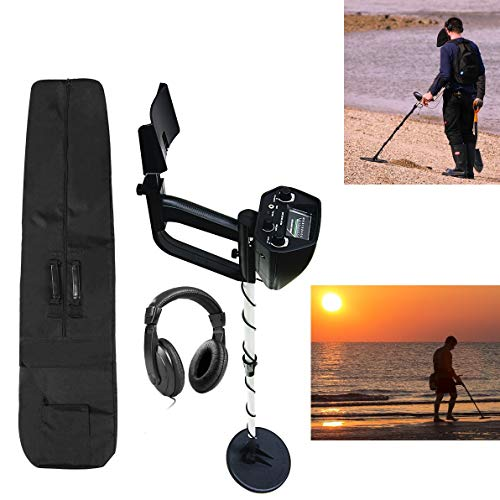 (American Hawks Explorer Metal Detector | Arm Support, View Meter, Waterproof Search Coil, Headphone, Bag, Batteries | Gold Silver Bronze Platinum | Treasure Hunting 3 Modes | Adults Kids Adjustable)