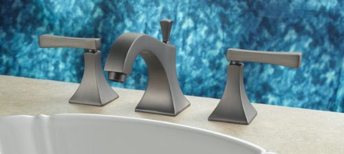 Santec Edo Collection Widespread Lavatory Set - 9220ED75 SATIN NICKEL FINISH (Santec Faucet Widespread Lavatory)