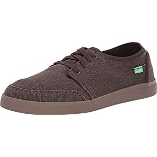 Sanuk Vagabond Lace Sneaker Dark Brown/Gum 11.5 D (M)