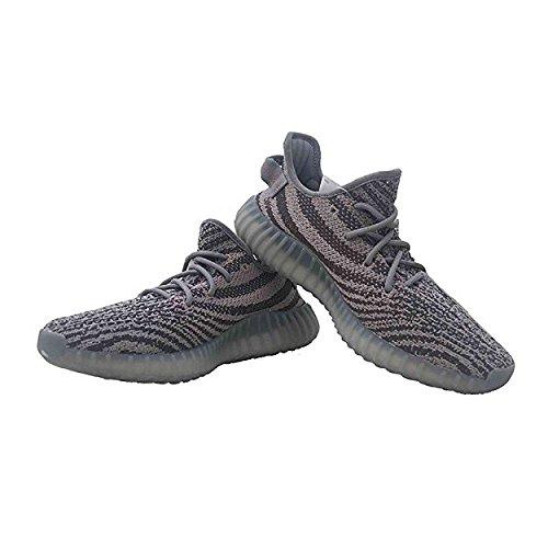 Boost 350 V2 Scarpe Da Donna Da Uomo Unisex Scarpe Da Corsa Running Sneaker Da Ginnastica Serie Zebra Grigio / Rosso