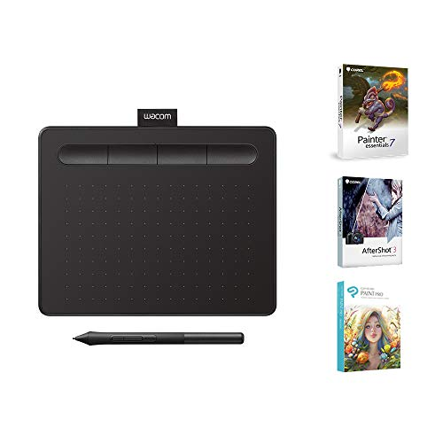 "Wacom CTL4100 Intuos Graphics Drawing Tablet with 3 Bonus Software included, 7.9""x 6.3"", Black"