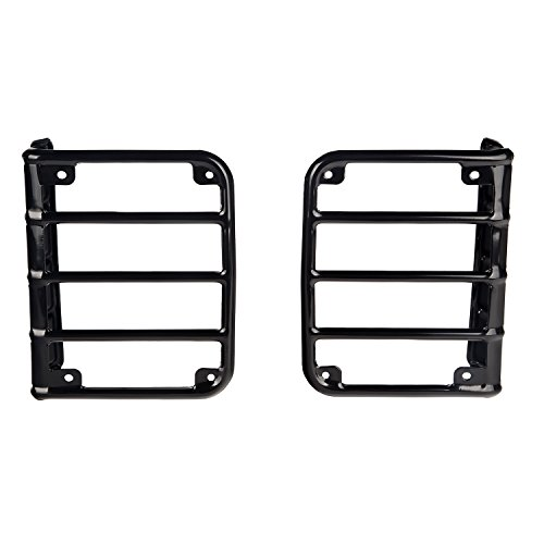Rugged Ridge 11226.02 Black Rear Euro Tail Light Guard - Pair Contour Tail Light Covers