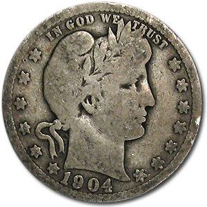 1904 Barber Quarter Good/VG Quarter Good