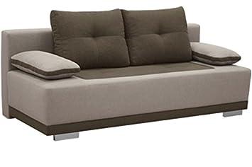 Roma Tela marrón sofá Cama sofá con sillones de ...