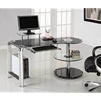 Innovex Orbit Desk, Black/Clear