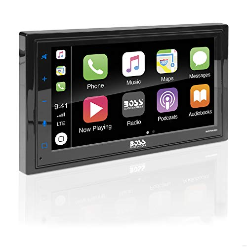 - BOSS Audio BVCP9685A Apple CarPlay Android Auto Car Multimedia Player - Double Din Car Stereo, 6.75