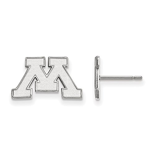 LogoArt 10k White Gold University of Minnesota XS Post Earrings 1W007UMN by LogoArt