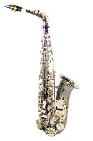 Chateau Alto Saxophone Professional Handmade Model VCH-800BSY2 Black Body Silver Key (Chateau Model)