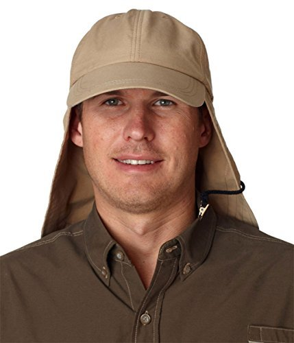 Adams Repellent - ADAM'S HEADWEAR EXTREME OUTDOOR HAT - UPF 45+ (Khaki)
