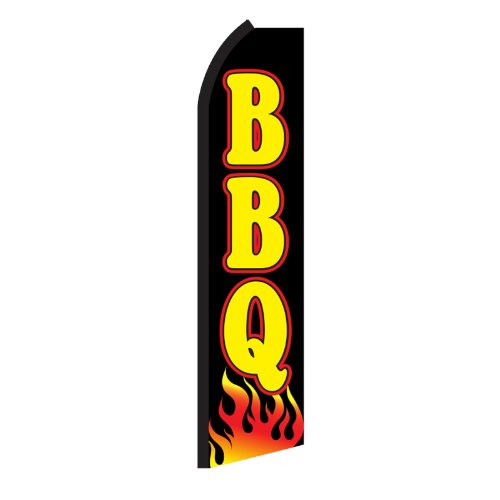 BBQ Flames Swooper Flag by NEOPlex