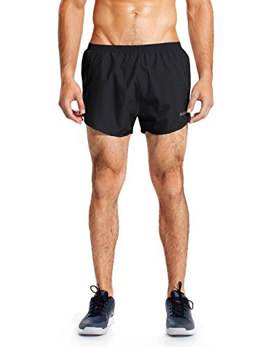 Baleaf Men's Quick-Dry Lightweight Pace Running Shorts Black Size - Inch Shorts Running 3