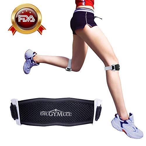DR.GYMLEE 2-Pack FDA Knee Band, Unisex Patellar Tendon Support Strap with Silicone Massage Bumps, Super-Thin, Anti-Slip&Anti-Distortion Patella Knee Strap, Knee Pain Relief Osgood Schlatter Knee Brace