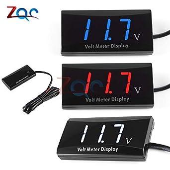 12v Led Mini Waterproof Display Voltmeter Car Voltage Volt Gauge Panel Meter