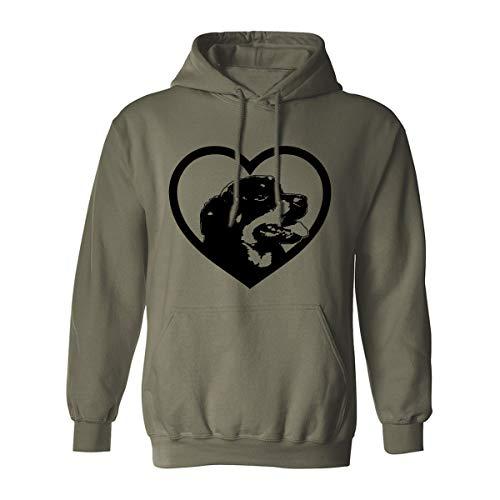 (ZeroGravitee Rottweiler Adult Hooded Sweatshirt - Military Green - XXX-Large)