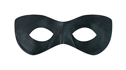 Game Ready Team Spirit Party Super Hero Mask Accessory, Black, Fabric , 2