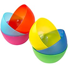 6 Pc Fun Multi-Colored BPA-Free Bowls - Cereal Fruit or Soup Bowl