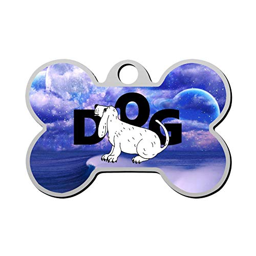 GPZHM Dog Pet ID Tags Personalized Custom Print Bone Shape Dog Tags & Cat Tags