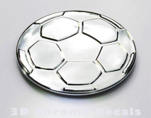 Aplique Cromo Balón de fútbol 3D