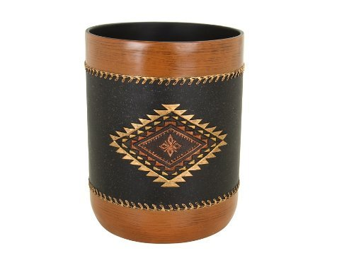 Avanti Linens Mojave Waste Basket, Black