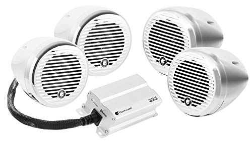 (Planet Audio PMC4C Bluetooth, Weatherproof Speaker And Amplifier Sound System, 3