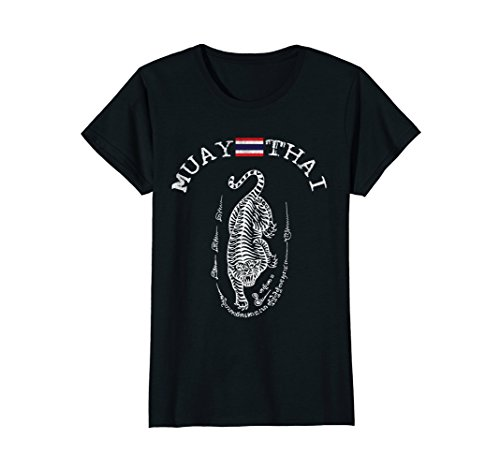 Womens Muay Thai Kickboxing T-Shirt - Mens & Womens Sizes White Small Black