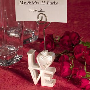 Love Design Place Card Holder Wedding Favors, 200 by Fashioncraft