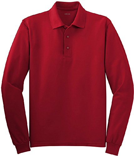 Joe's USA(tm) - Mens X-Large Tall Long Sleeve Polo Shirts in 36 Colors