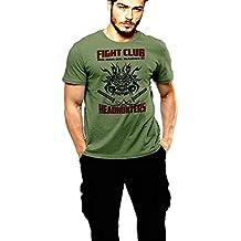 Samurai Tattoo Mask T-Shirt Headhunters Green Tee By Warface Apparel Inc