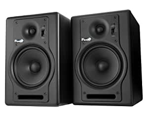 Fluid Audio F5 Fader Series - Monitores de estudio de 70W (biamplificados), color negro