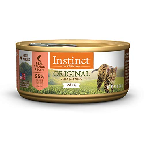 Instinct Original Grain Free Real Salmon Recipe Natural Wet Canned Cat Food by Nature's Variety, 5.5 oz. Cans (Case of 12)