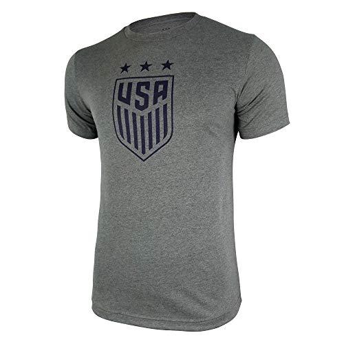 Icon Sports U.S. Soccer USWNT Men's Cotton T-Shirt (Heather Gray, Large) ()