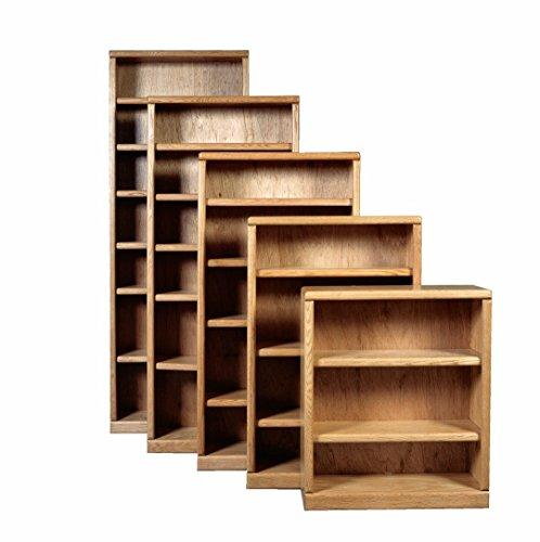 Bull Nose Bookcase (One Shelf) Golden Oak (Bookshelf Solid Oak)