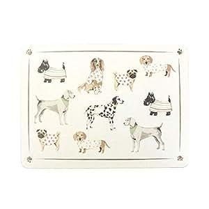 4X de Lujo Manteles Individuales Colorido Perros Cachorros Carlino Dálmatas Westie Daschund con Abrigos Dorso de Corcho