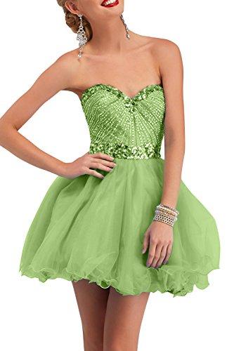 Partykleider Festlichkleider Abendkleider Grün Perlen Steine mit ...
