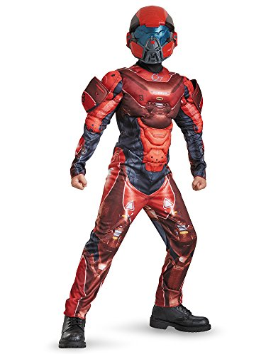 [Disguise Red Spartan Classic Muscle Halo Microsoft Costume, Large/10-12] (Classic Childrens Book Costumes)