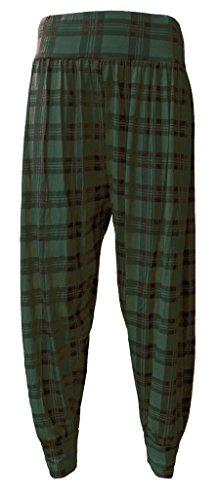 Pantalons Uni Grande Tartan Taille À Tailles Wearall Femmes 40 Harem Green 54 Pants qptTW