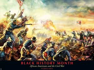 Black History Month Poster African Americans & the Civil War (B11)