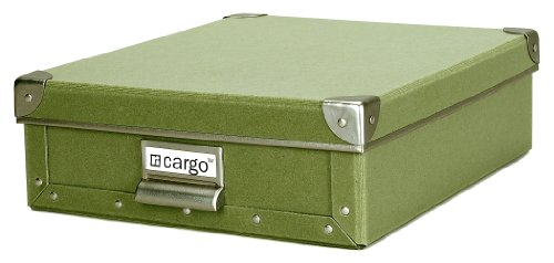 Cargo Naturals Stationery Box, Sage, 3-3/4 by 12-1/2 by - Store Cargo